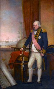 Admiral John Jervis (1735-1823), 1st Earl of St Vincent *oil on canvas *237.5 x 147.5 cm *1806