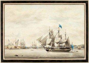 HMS_Asia_in_Halifax_Harbour,_1797