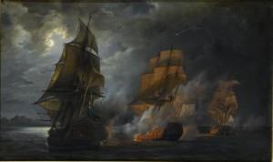 Combat_naval_vaisseau_français_le_Triton_contre_vaisseau_anglais_le_Jupiter_et_la_frégate_la_Médée_près_de_Lisbonne_20_octobre_1778