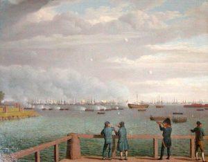 616px-Engelske_flåde_ud_for_København_august_1807 (1)