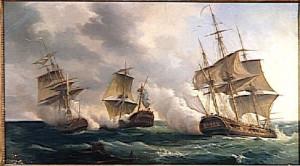 Combat_des_frégates_francaises_La_Nymphe_et_L'Amphitrite_contre_le_vaisseau_anglais_L'Argo_(11_février_1783)_Pierre-Julien_Gilbert