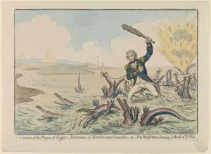 James_Gillray_Cartoon_Nelson_destroying_Revolutionary_Crocodiles_Nile_1798