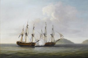 640px-dominic_serres_-_captain_george_montagu_of_the_pearl_32_guns_engaging_the_spanish_frigate_santa_monica_off_the_azores_14th-_september_1779