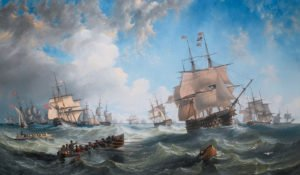 the_channel_fleet_in_heavy_weather_by_john_wilson_carmichael-3