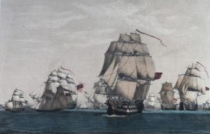 The Franco / Spanish capture of Commodore Moutray's convoy
