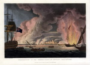 The attempted destruction of the French fleet at Toulon