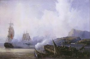 The destruction of the French frigate Preneuse