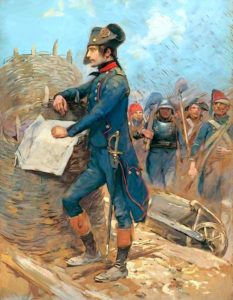 Napoleon Buonaparte at the Siege of Toulon