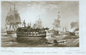 The Belleisle at the Battle of Trafalgar