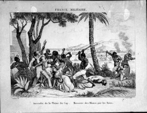 An image of an earlier slave rebellion in Saint-Domingue